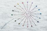 Alpenfleece bedrukt glitter blowball dew drop AG80_