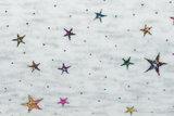 Alpenfleece bedrukt glitter star dew drop AG74_