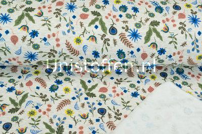 Alpenfleece bedrukt NA445 Russian Folk Flower