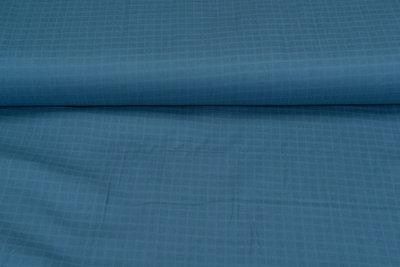 Katoenen Mousseline Spinacker metaalblauw