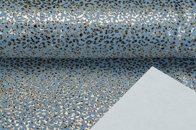 Alpenfleece bedrukt glitter panther foil AG84