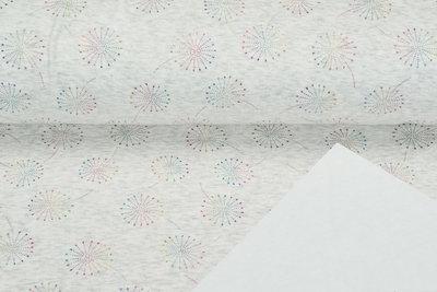 Alpenfleece bedrukt glitter blowball dew drop AG80
