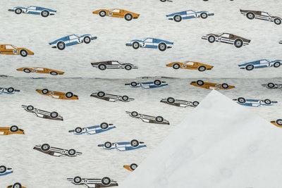 Alpenfleece bedrukt NA628 Vintage Race Cars
