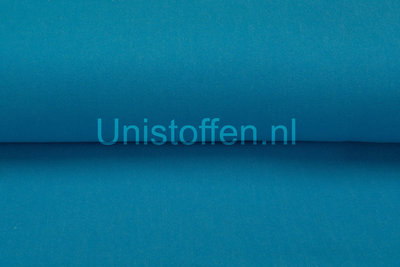 Washed Denim Color Stretch Turquoise Uitlopend Opop