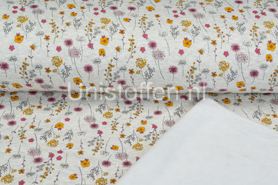 Alpenfleece bedrukt NA386 Romantic Mini Flower