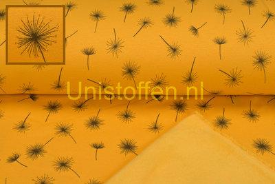 Alpenfleece bedrukt Glitter AG20 Dandelion