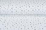 Katoenen-Mousseline-bedrukt-dots-off-white