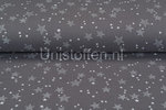 Katoenen-Mousseline-bedrukt-star-grijs