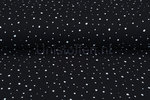 Katoenen-Mousseline-bedrukt-dots-zwart